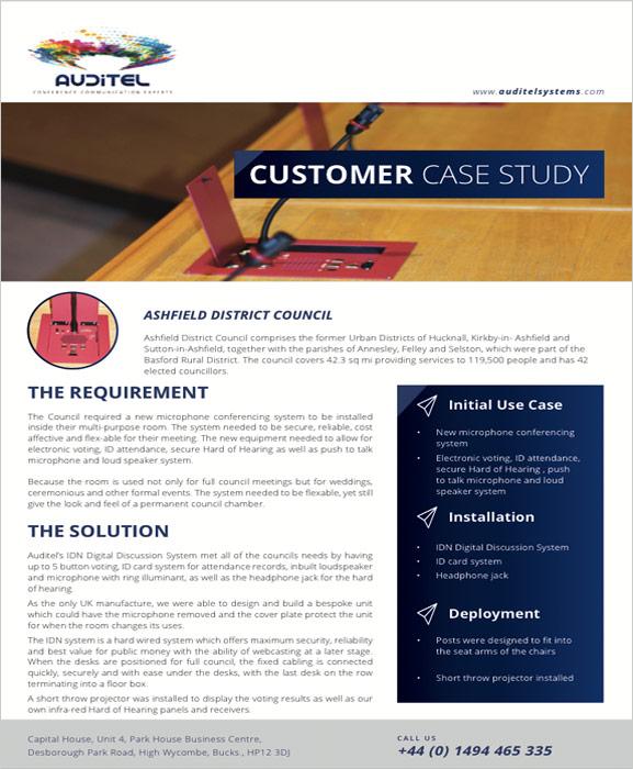 Ashfield District Council | Case Study | Auditel