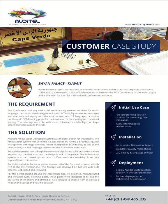 Bayan Palace | Case Study | Auditel