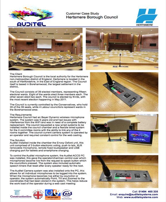Hertsmere Borough Council | Case Study | Auditel
