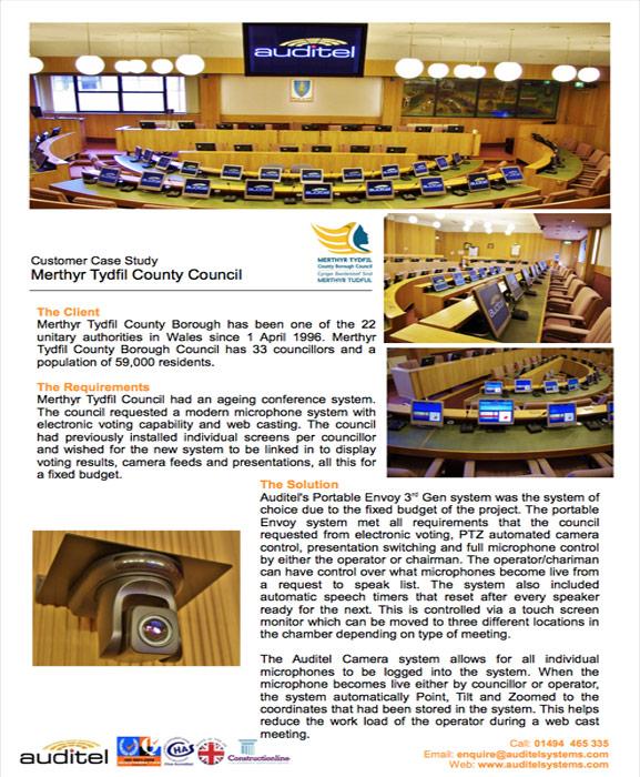 Merthyr Tydfil County Council | Case Study | Auditel